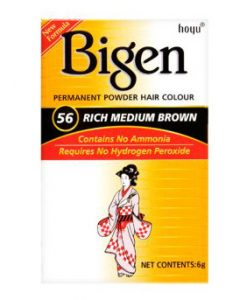 Bigen Permanent Powder Hair Color No.56 Rich Medium Brown