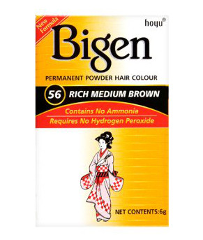 Bigen Permanent Powder Hair Color No.56 Rich Medium Brown