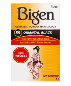 Bigen Permanent Powder Hair Color No.59 Oriental Black