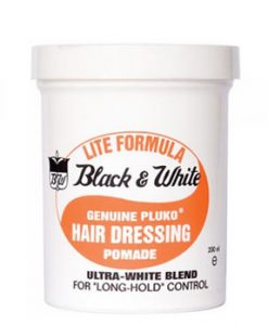 Black & White Pluko Hair Dressing Pomade - Lite Formula