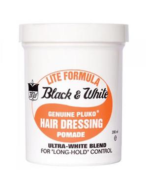 Black & White Pluko Hair Dressing Pomade - Lite Formula