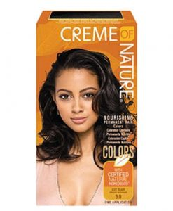 Creme of Nature Nourishing Permanent Hair Color- Soft Black
