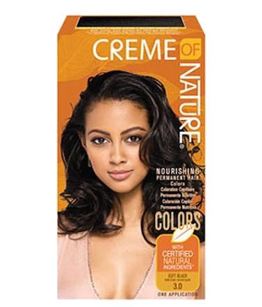 Creme of Nature Nourishing Permanent Hair Color- Soft Black