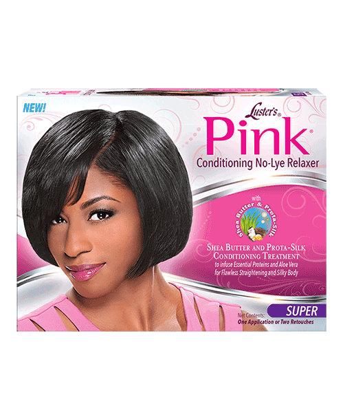 Pink No Lye Relaxer Kit - Super