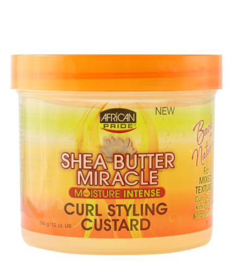 African Pride Shea  Miracle Curl Styling Custard