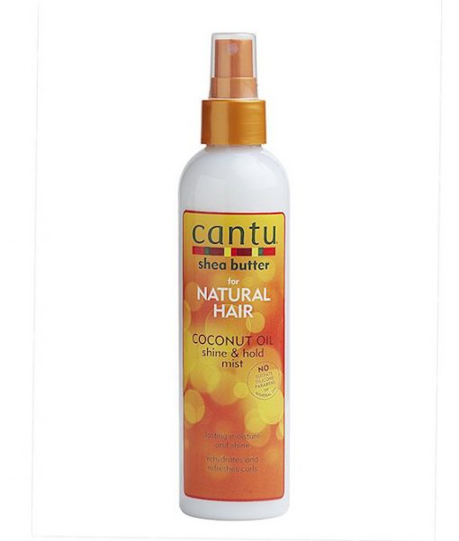 Cantu Shea Butter for Natural Hair Coconut Oil Shine and Hold Mist Spray