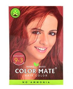 Color Mate Hair Color No Ammonia Henna Based - Burgundy 9.3
