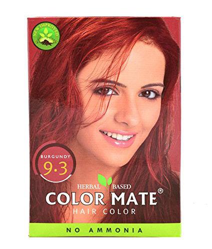 Color Mate Hair Color No Ammonia Henna Based - Burgundy 9.3