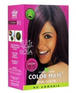 Color Mate Hair Color No Ammonia Henna Based - Mahogany 9.5