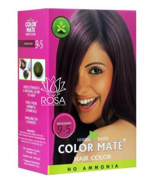 Color Mate Hair Color No Ammonia Henna Based - Mahogany 9.5