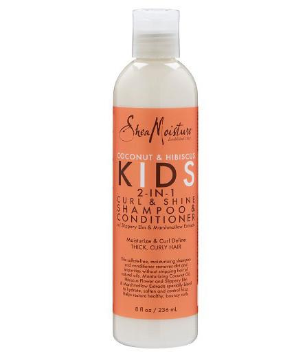 Shea Moisture Kids Coconut & Hibiscus Kids 2-in-1 Curl & Shine Shampoo & Conditioner